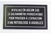 Galvanomètre hydrostatique